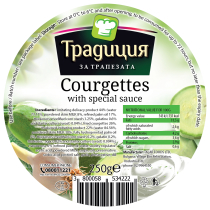 Courgettes with special sauce