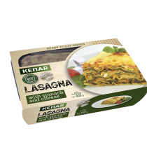 Lasagna with spinach and cheese