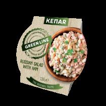 Russian salad with ham