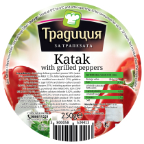 Katak with grilled peppers