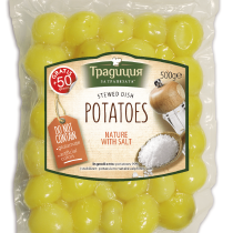 Steamed potatoes natur