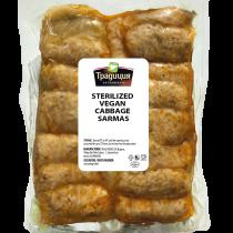 Vegan cabbage-leaf rolls